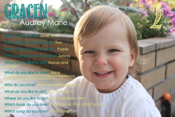 Grae s 2nd Birthday Interview