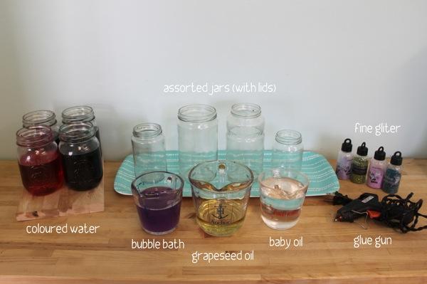 Sensory Jar Materials
