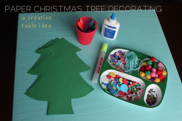 Paper Christmas Tree Decorating
