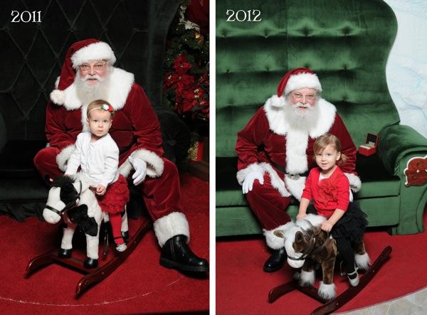 Santa Photos Through the Years
