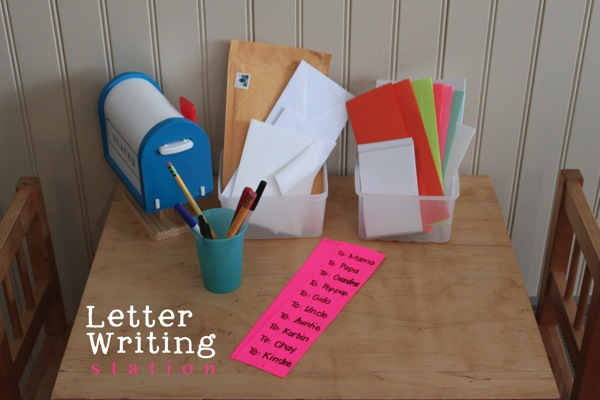 Letter Writing Station