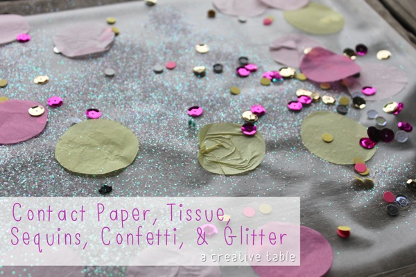 Contact Paper Tissue Sequins Confetti  Glitter Creative Table