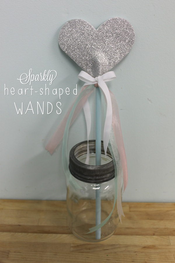 Sparkly Heart Shaped Wands