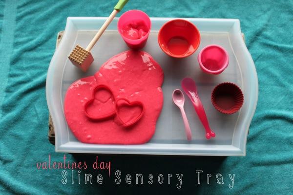 Valentine s Day Slime Sensory Tray