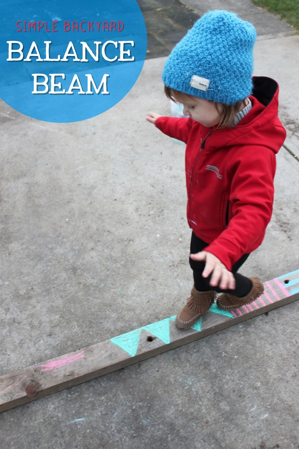 Simple Backyard Balance Beam
