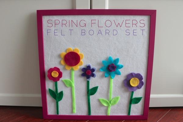 Spring Flowers Felt Board Set