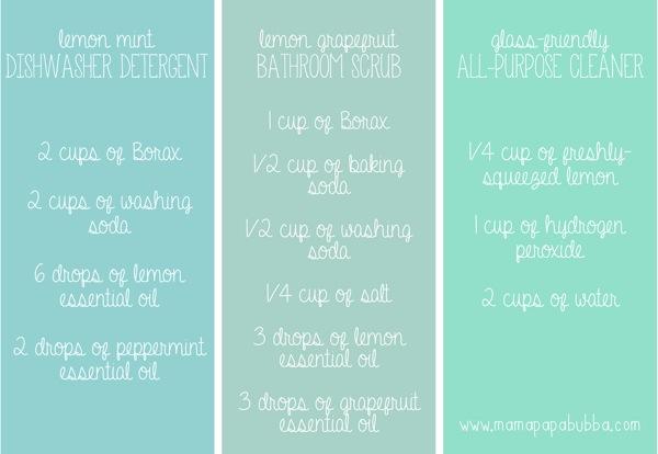 3 Simple Homemade Cleaner Recipes | Mama Papa Bubba