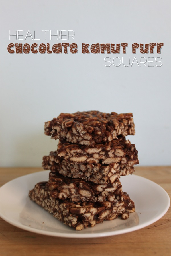 Healthier Chocolate Kamut Puff Squares | Mama Papa Bubba