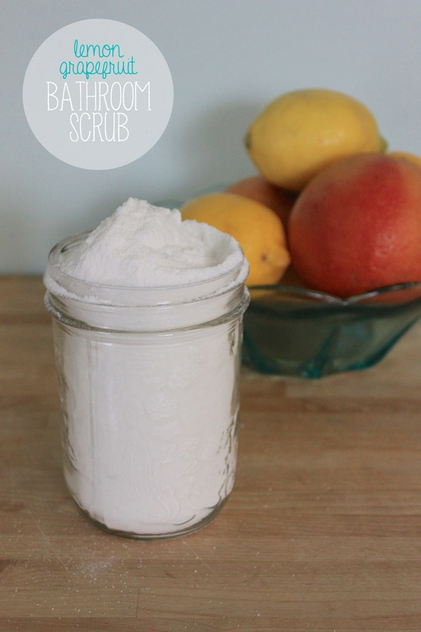 Homemade Lemon Grapefruit Bathroom Scrub | Mama Papa Bubba