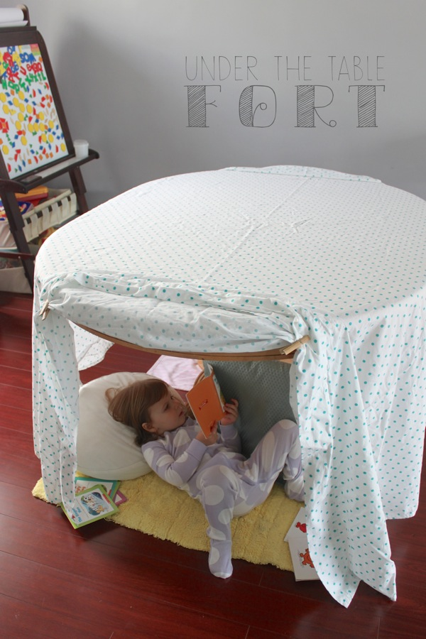 Under the Table Fort | Mama Papa Bubba