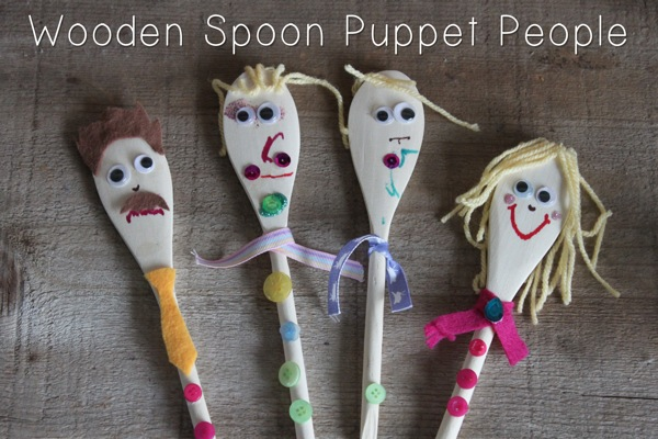 Wooden Spoon Puppet People