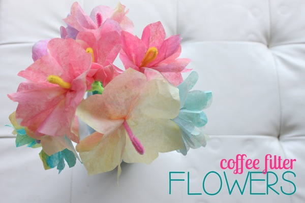 Coffee Filter Flowers | Mama Papa Bubba