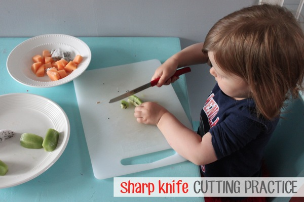 Sharp Knife Cutting Practice | Mama Papa Bubba