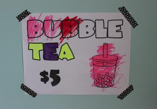 Bubble Tea Sign | Mama Papa Bubba