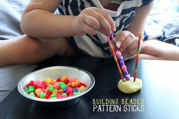 Building Beaded Pattern Sticks | Mama Papa Bubba