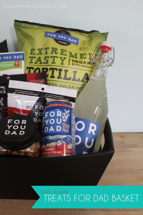 Father s Day Gift  A Quick  Easy Treats for Dad Basket | Mama Papa Bubba