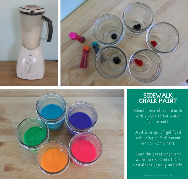 Sidewalk Chalk Paint  Blender Method | Mama Papa Bubba
