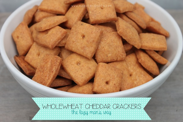 Wholewheat Cheddar Crackers the Lazy Man s Way | Mama Papa Bubba