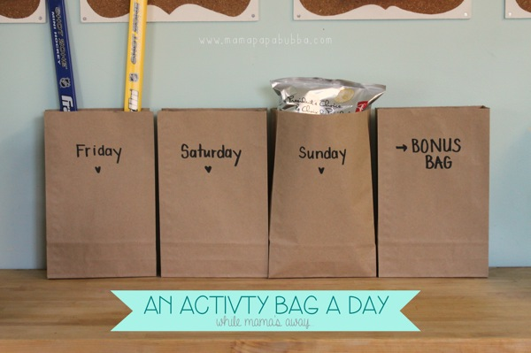 An Activity Bag a Day While Mama s Away | Mama Papa Bubba