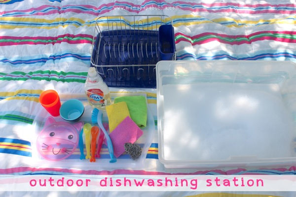 Outdoor Dishwashing Station | Mama Papa Bubba