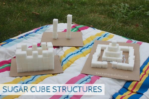 Sugar Cube Structures | Mama Papa Bubba