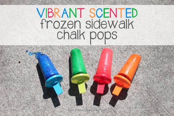 Vibrant Scented Frozen Sidewalk Chalk Pops | Mama Papa Bubba