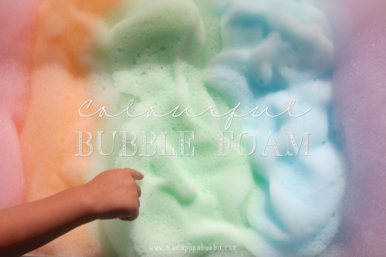 Colourful Bubble Foam | Mama Papa Bubba