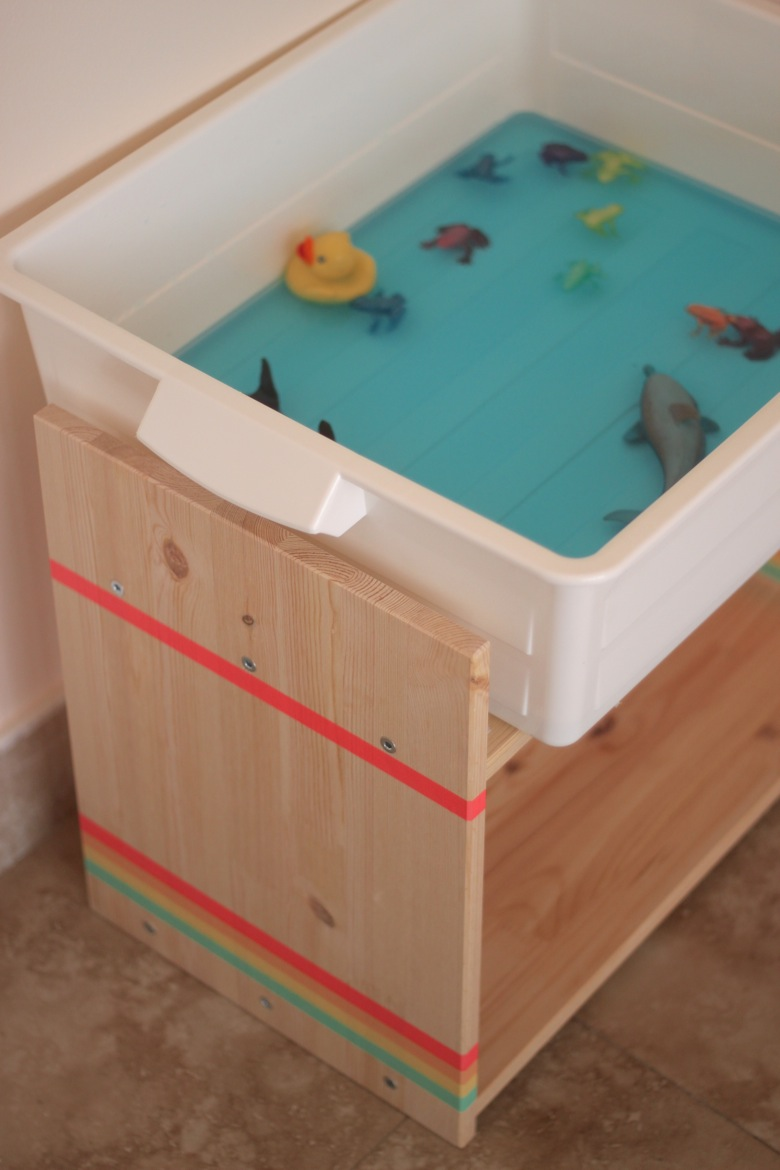 Simple Sensory Bin Stand - Mama.Papa.Bubba.