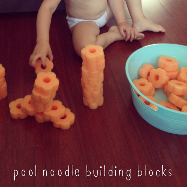 Pool noodle blocks