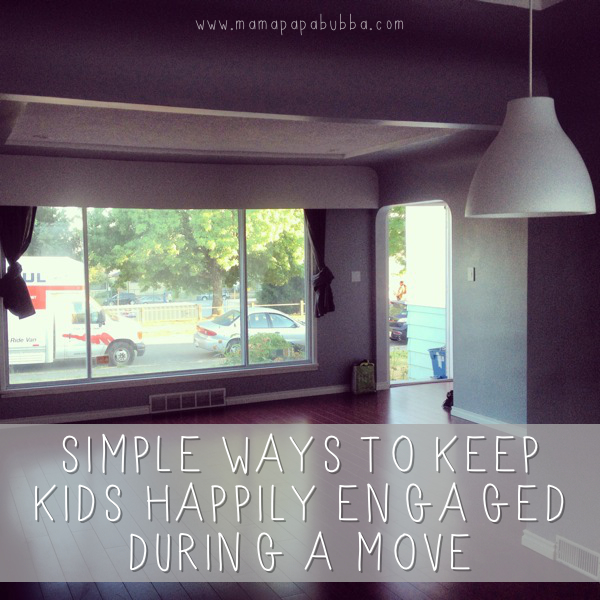 Simple Ways to Keep Kids Happily Engaged During a Move | Mama Papa Bubba