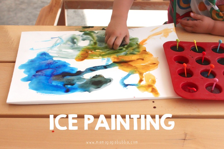 Ice Painting | Mama Papa Bubba